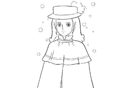 莎拉公主简笔画图片
