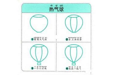 幼儿简笔画教程之热气球