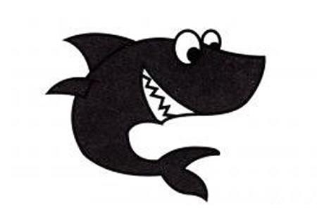 小鲨鱼简笔画画法