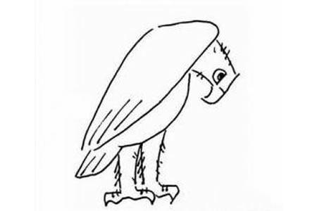 一组关于老鹰的简笔画图片