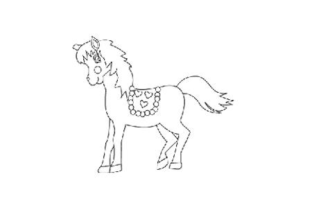 可爱的小马简笔画