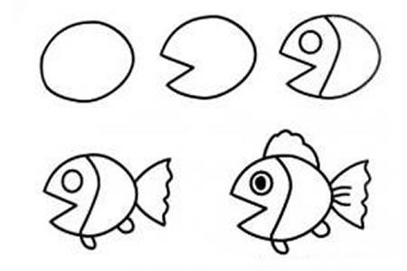 卡通金鱼的画法