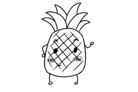 卡通形象的菠萝