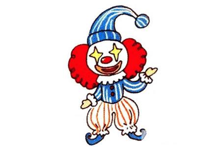 可爱的小丑简笔画教程