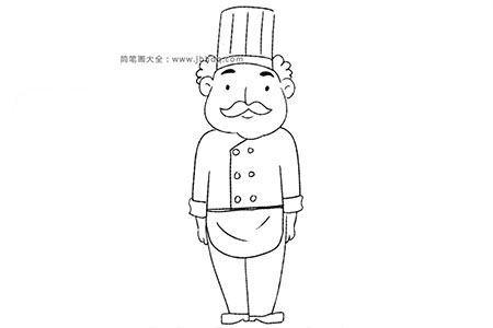 厨师简笔画教程