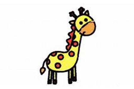 长颈鹿简笔画画法