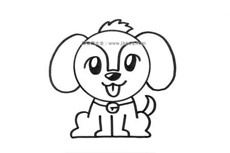 可爱的小狗简笔画