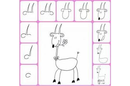 幼儿简笔画教程 山羊简笔画画法
