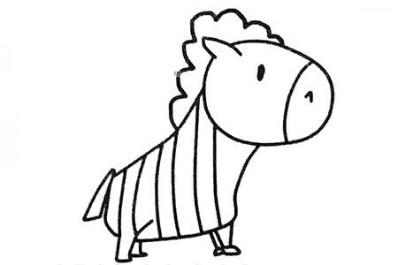 六张可爱的卡通小斑马