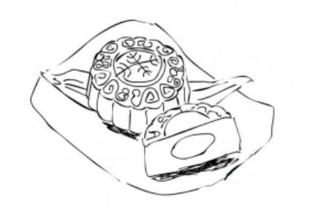中秋节月饼简笔画