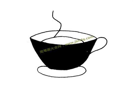 咖啡杯简笔画
