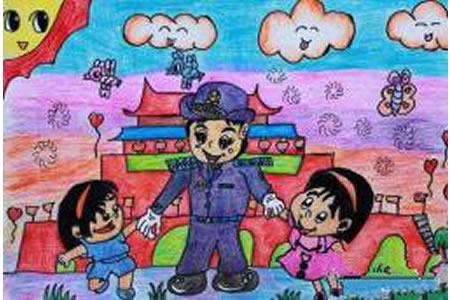 快乐的国庆节,庆祝国庆节有关的儿童画作品分享