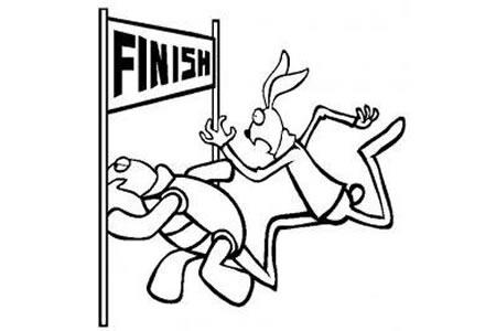 伊索寓言简笔画 龟兔赛跑简笔画图片