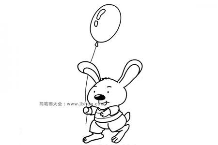 拿着气球的小兔子弟弟