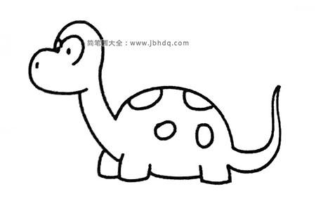 四步学画可爱的小恐龙