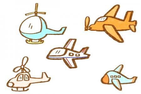 5种飞机简笔画!超萌!超简单!