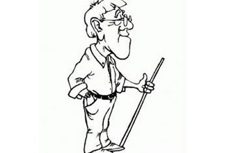 教师节简笔画——老师辛苦了
