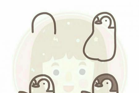 可爱企鹅简笔画教程