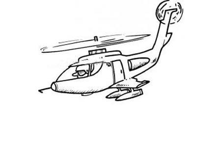武装直升机简笔画
