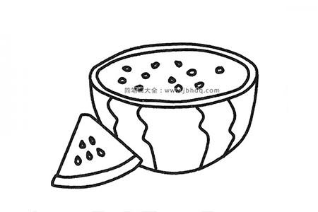 五张漂亮的西瓜简笔画图片