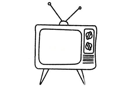 电视机简笔画大全及画法步骤