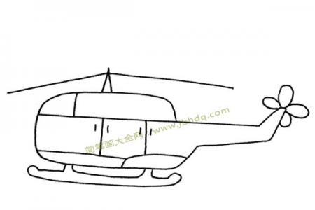 直升飞机简笔画