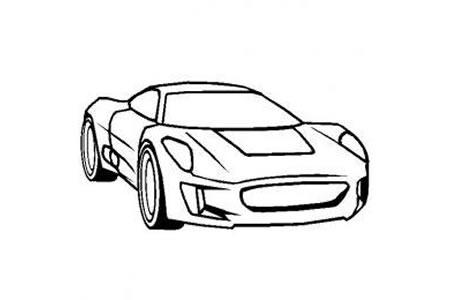 捷豹cx75超级跑车简笔画