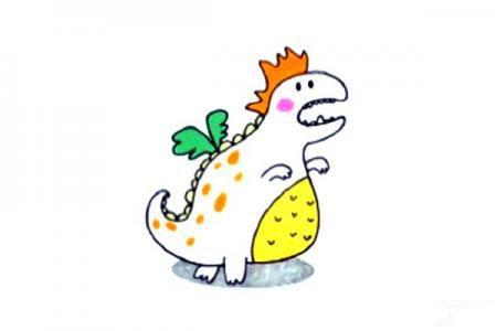 一组卡通恐龙简笔画