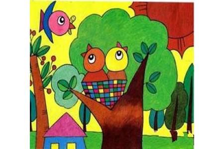 儿童画教案 小鸟妈妈