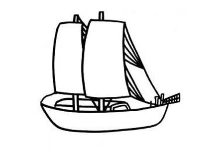 简单的帆船简笔画