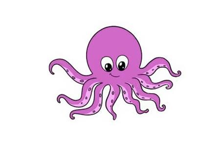 章鱼的画法步骤图