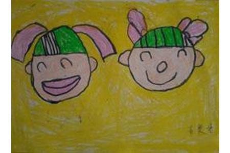 关于中秋节儿童画-欢乐中秋节