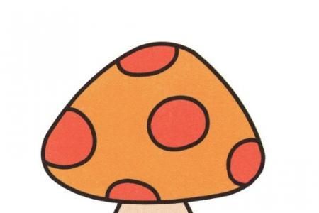 学画简单的蘑菇