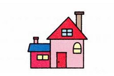 房子简笔画画法