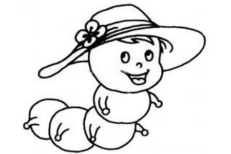 可爱的毛毛虫简笔画图片