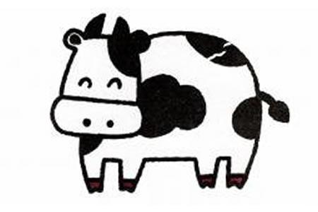 奶牛简笔画画法