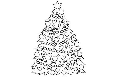 挂满装饰品的圣诞树