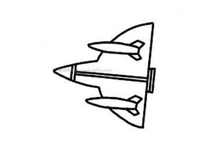 军用战斗机简笔画图片