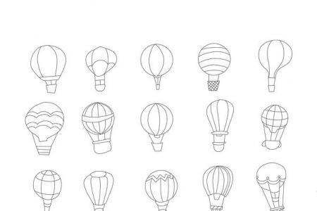 各种热气球的画法
