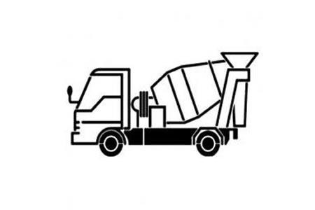 儿童简笔画 水泥罐车
