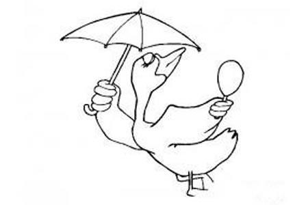 动物简笔画 鸭子的简笔画画法