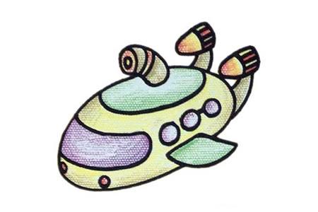 潜水艇简笔画教程