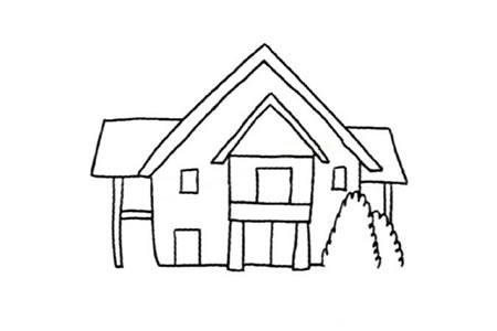 漂亮的木屋简笔画教程