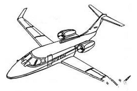 大型飞机简笔画图片