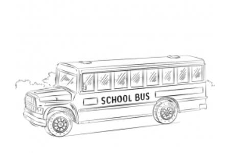校车的画法