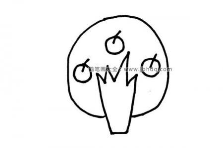 简单的苹果树简笔画图片