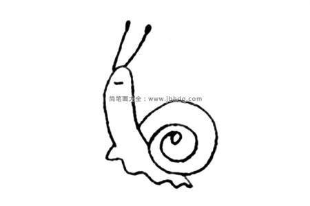 简单的蜗牛简笔画教程