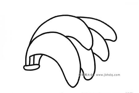 四张香蕉简笔画图片