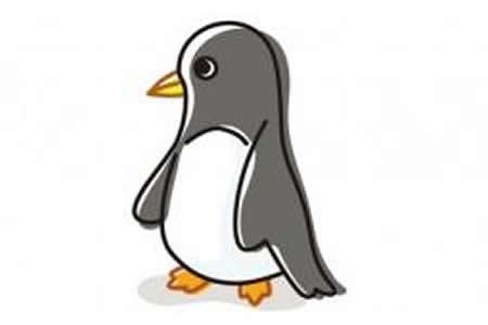 儿童简笔画企鹅的画法