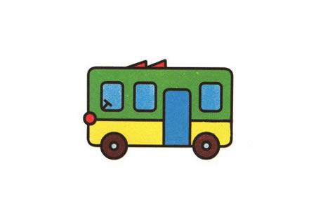 学画公共汽车